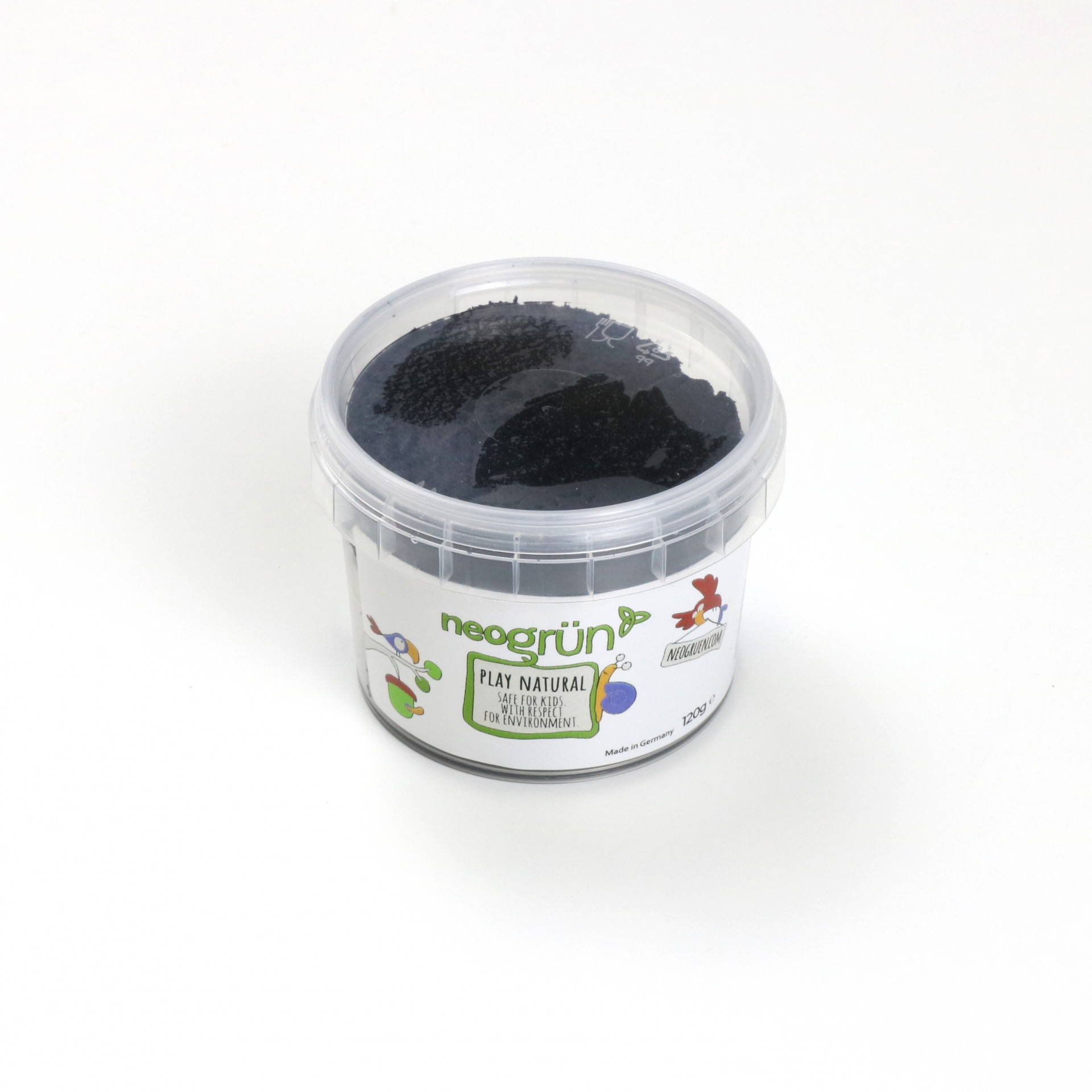 PRETO Plasticina Infantil Natural e Vegan - Neogrun