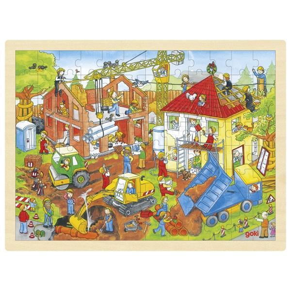 Puzzle de Peças GRANDE Construção - Goki