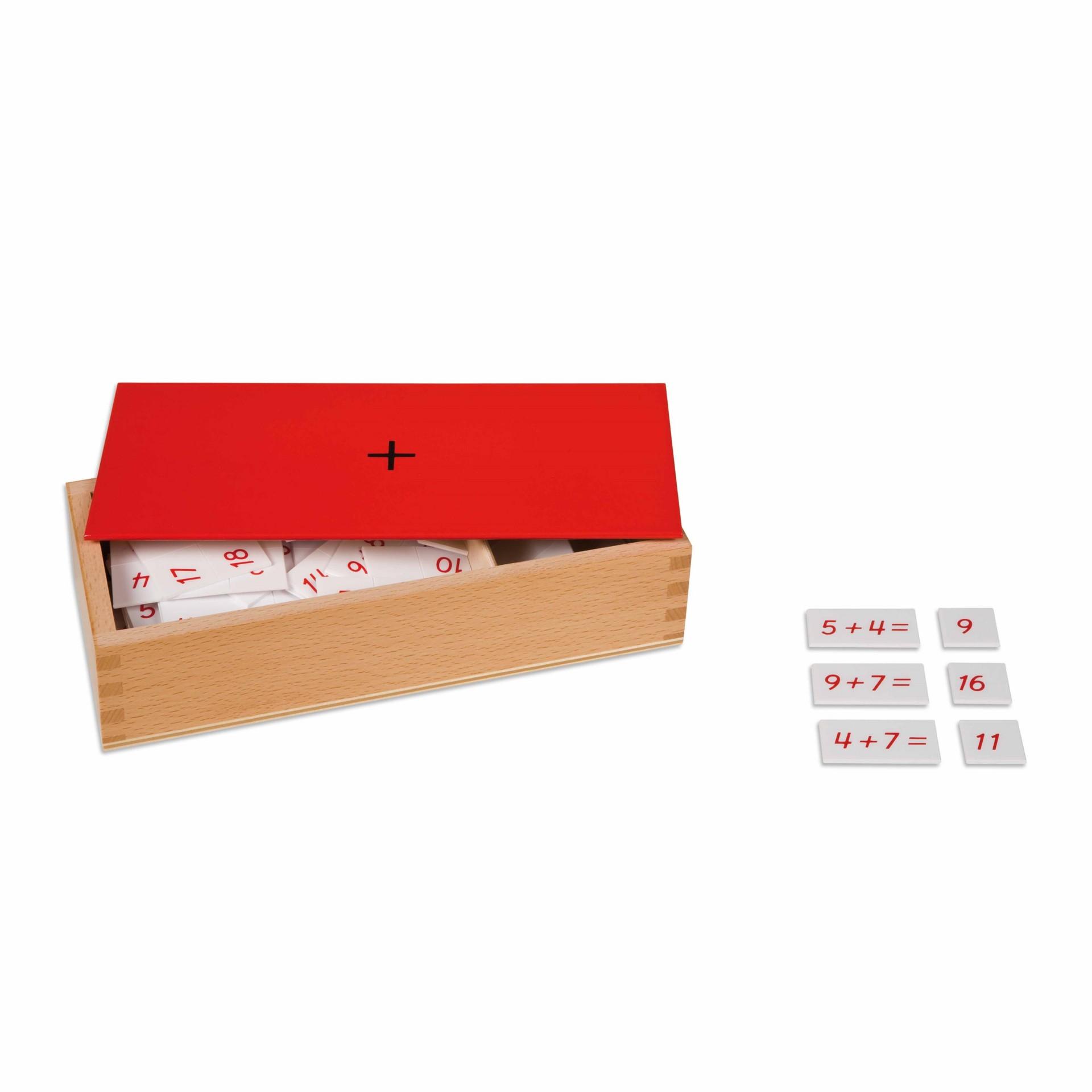 Caixa de Equações, Adições e Somas - Nienhuis Montessori