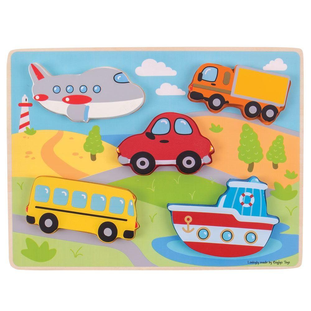 Puzzle de Encaixar Transportes - BigJigs