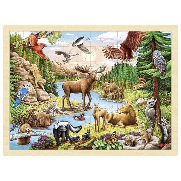 Animais da America do Norte | Puzzle de Peças GRANDE
