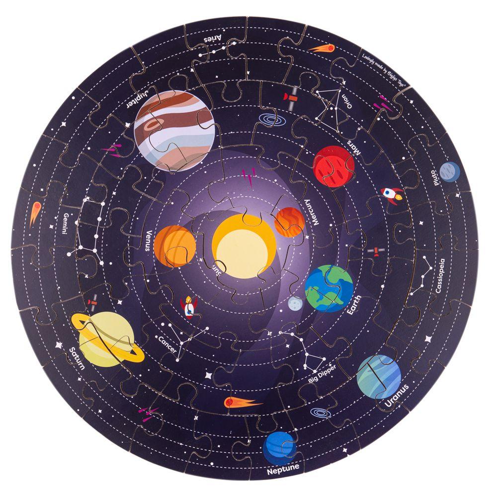 Puzzle de Chão Circular do Sistema Solar | BigJigs