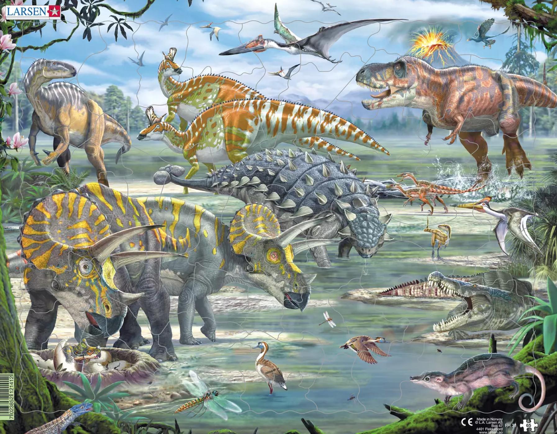 Puzzle Dinossauros - Larsen