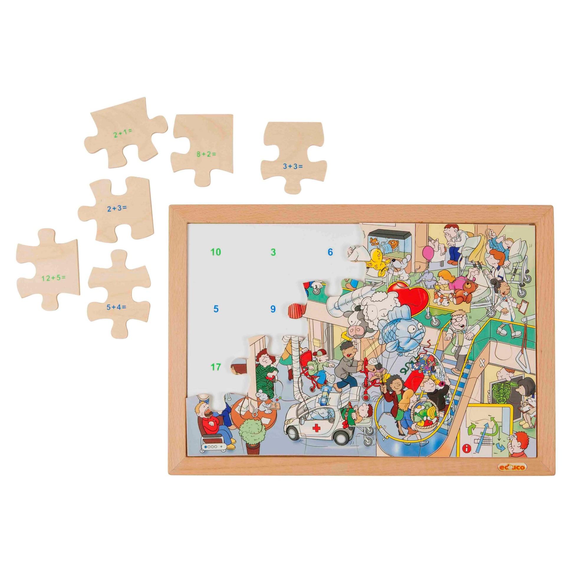 Clínica Animada - Puzzle da Matemática Adição e Subtração até 20