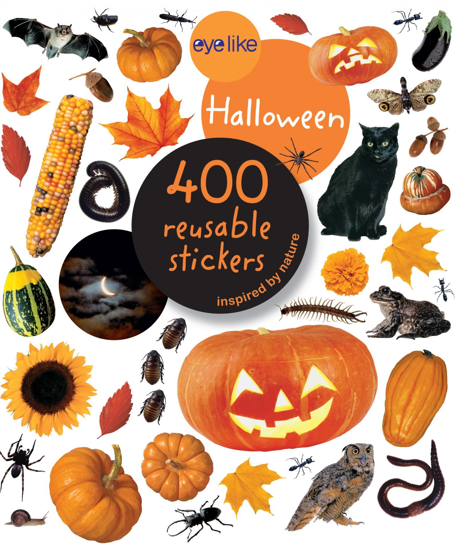 Halloween - Livro de Autocolantes Reutilizáveis