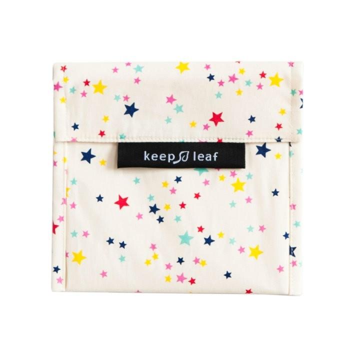 Estrelas Saco de Snack Grande Reutilizável  - Keep Leaf