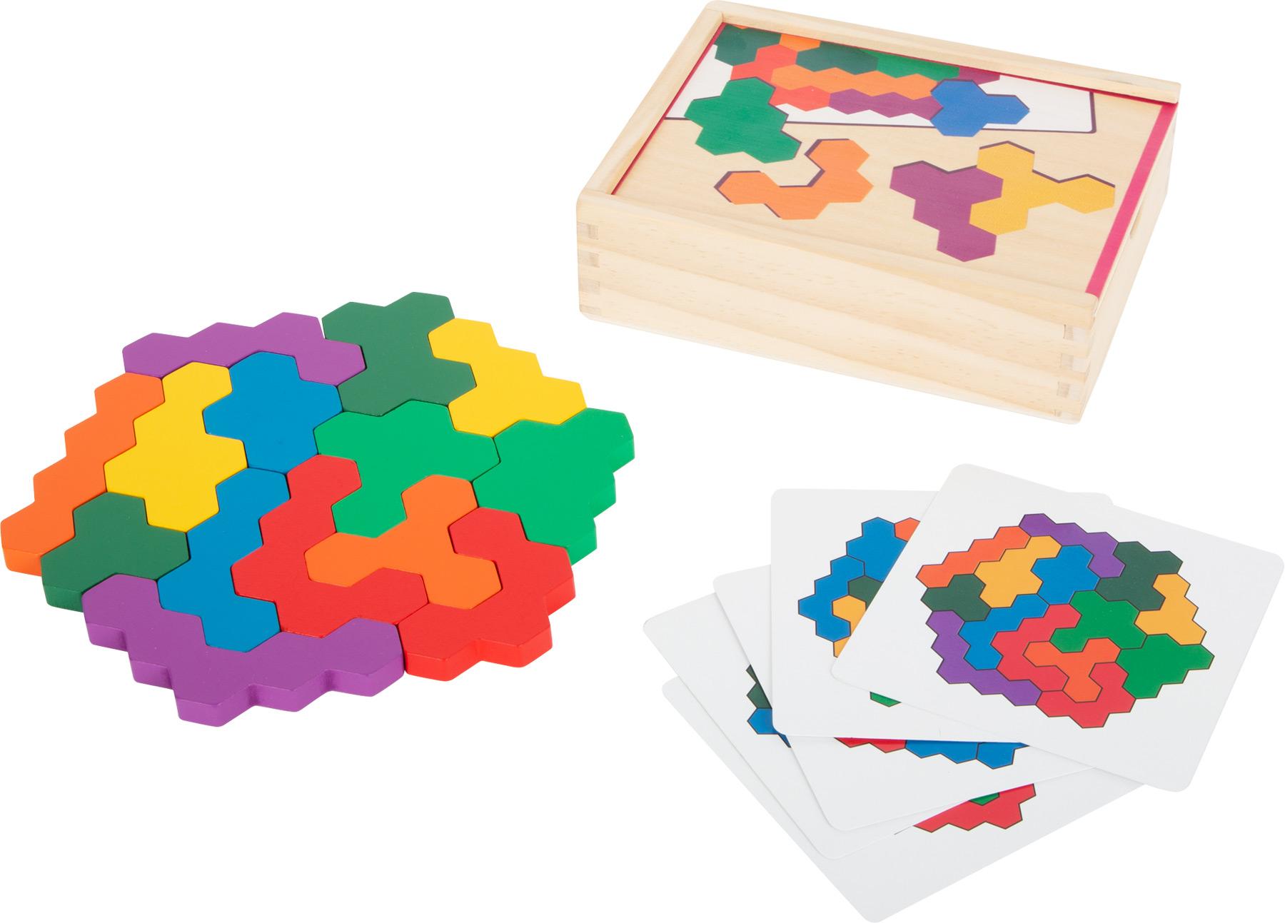 Hexágono Puzzle Criativo