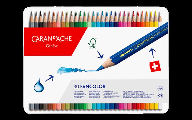 40 Lápis Aquareláveis FANCOLOR | Caran d'Ache