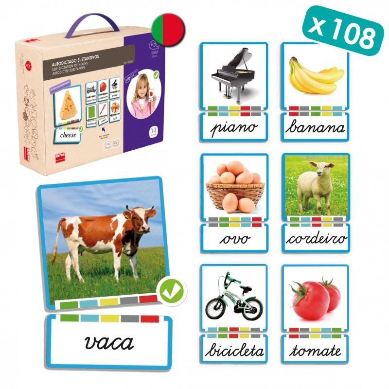 Cartões Os Substantivos PORTUGUÊS - Akros