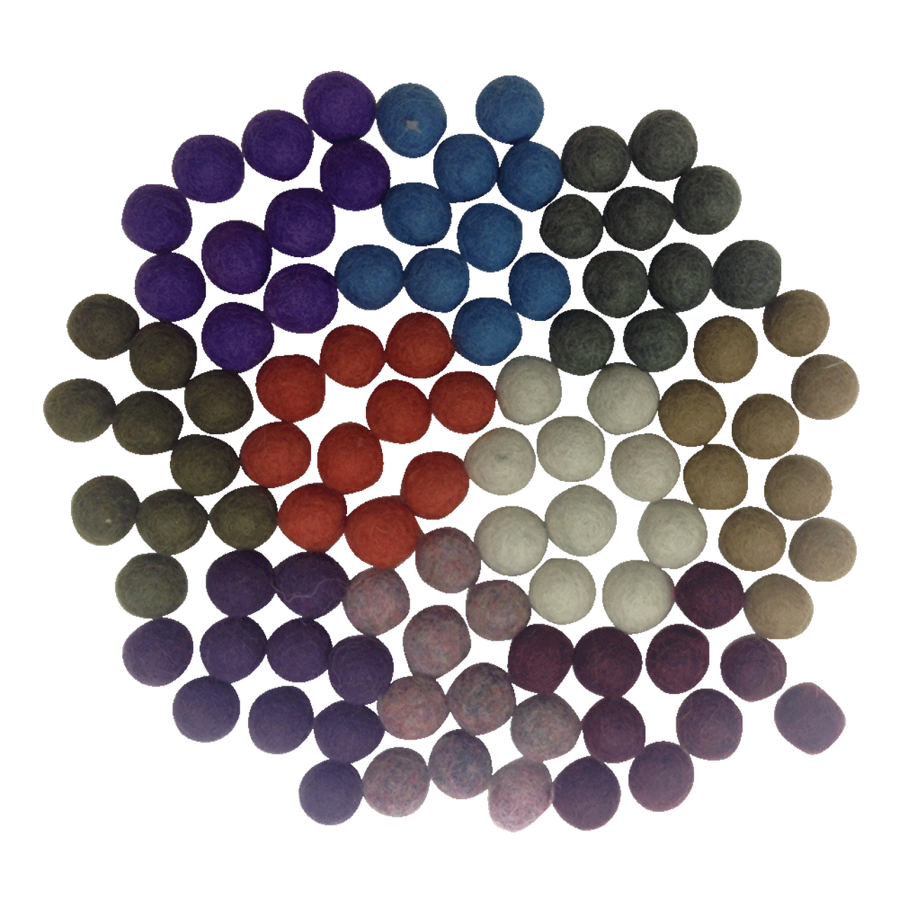 Inverno Conjunto Sensorial Pompons de Lã | Bosque Feliz