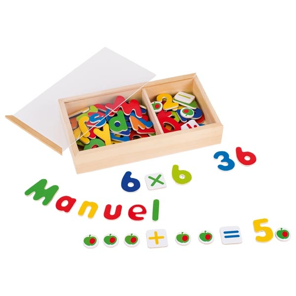 Ímans Alfabeto e Números Magnéticos - Goki