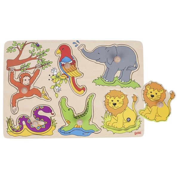 Puzzle com SOM Os Animais - Goki