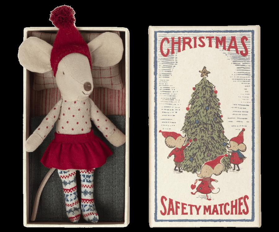 Ratinha de Natal em Caixa de Fósforos | Maileg