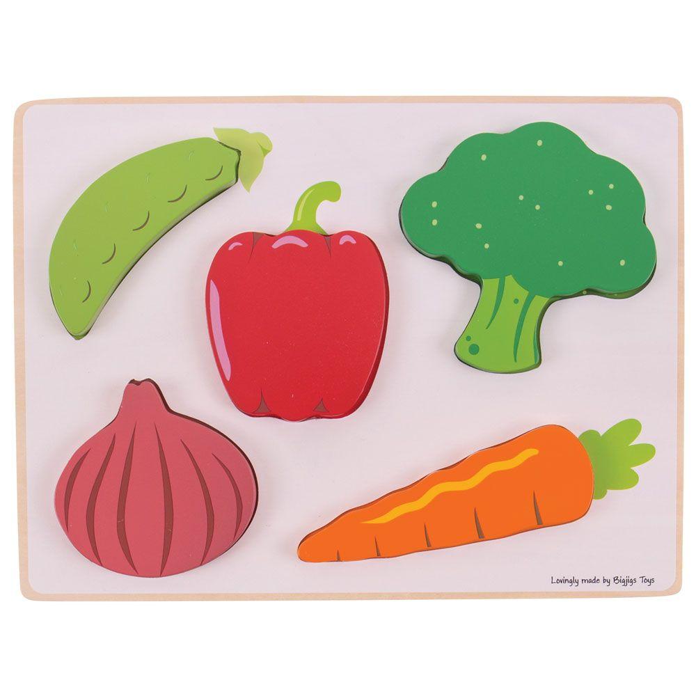 Puzzle de Encaixar Vegetais - BigJigs