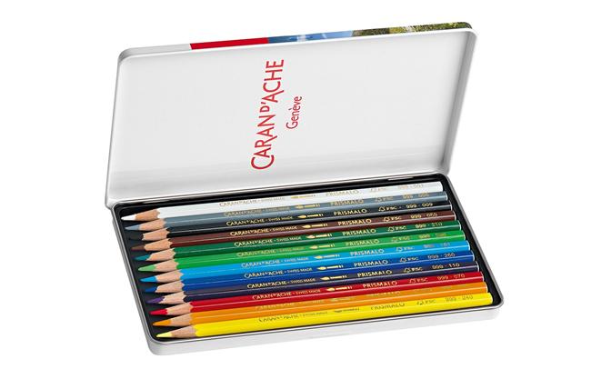12 Lápis Aquareláveis PRISMALO | Caran D'Ache