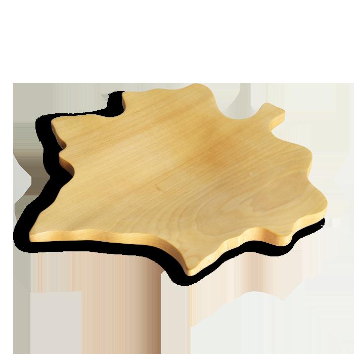 Prato Folha de Carvalho em Madeira