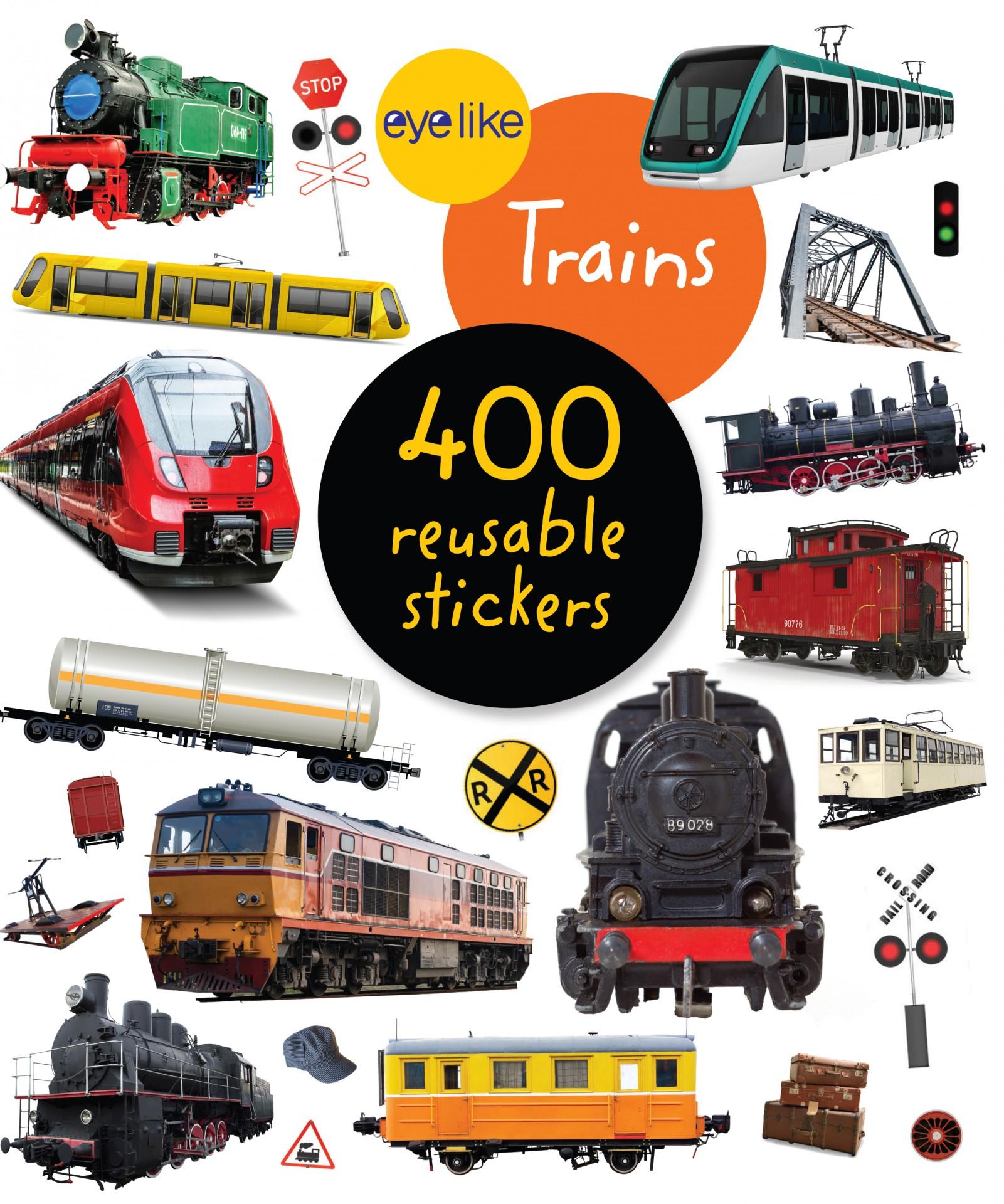 Comboios - Livro de Autocolantes Reutilizáveis