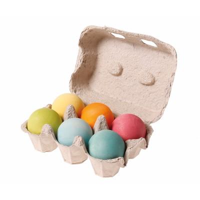 6 Bolas de Madeira Pastel - Grimm's