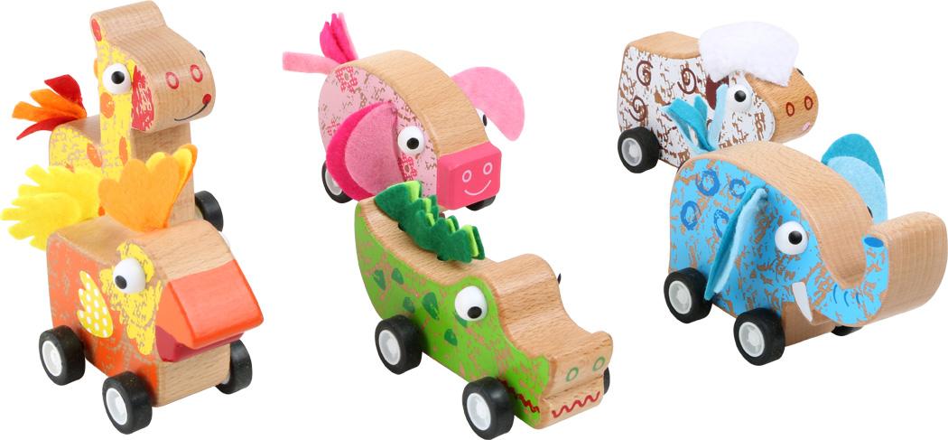 Veículos Pull-Back Animais | Smallfoot