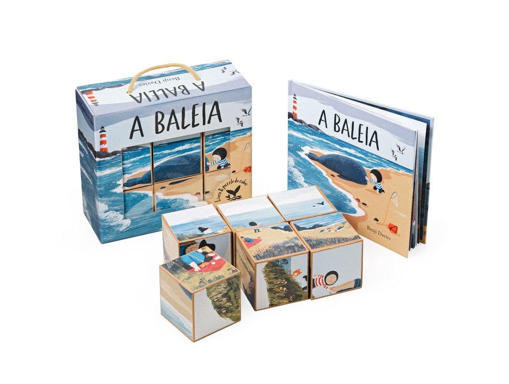 A BALEIA - Livro + Puzzle Cubos