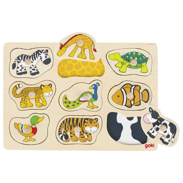 Puzzle de Pegas Pele dos Animais - Goki