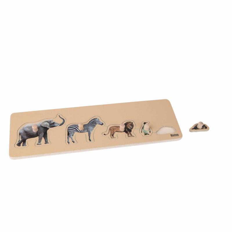 Puzzle Tamanho Animais - Nienhuis Montessori