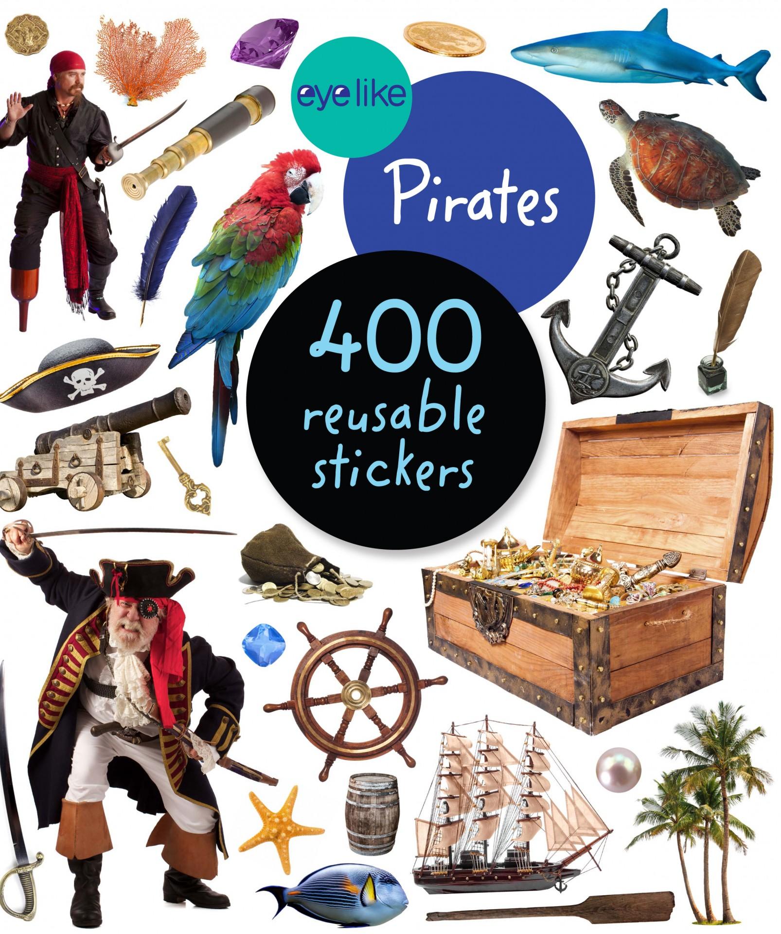 Piratas - Livro de Autocolantes Reutilizáveis