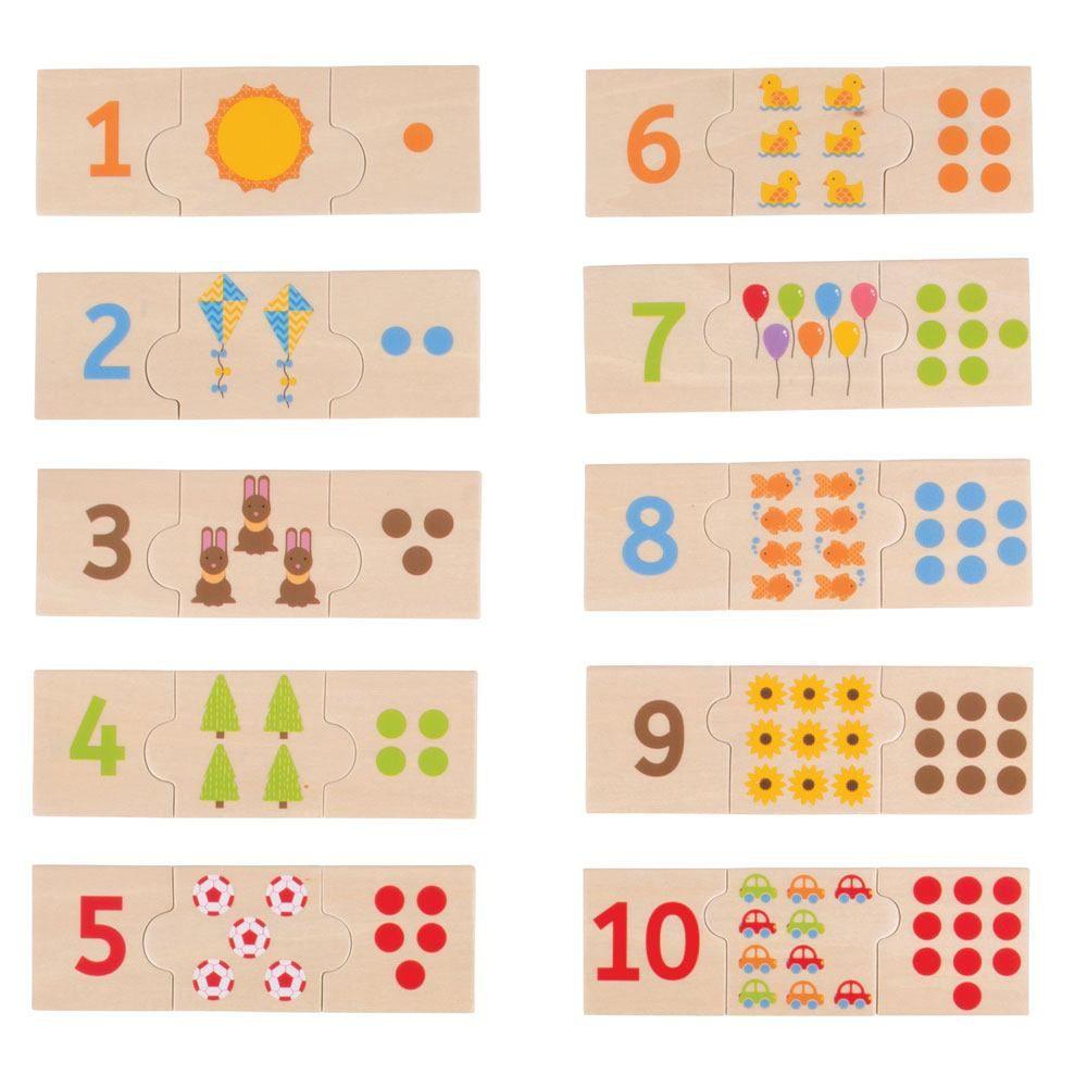Puzzle de Peças Contar e Classificar