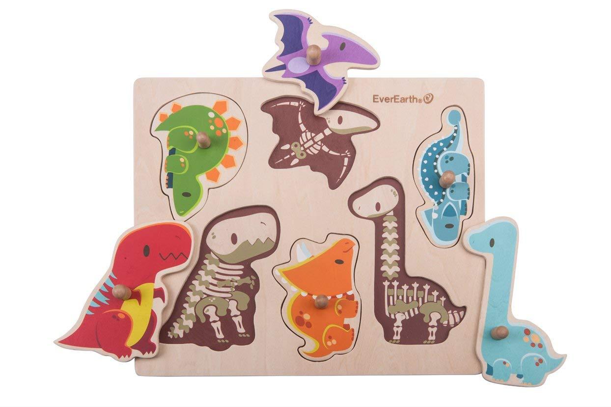 Puzzle de Pegas Dinossauros - EverEarth