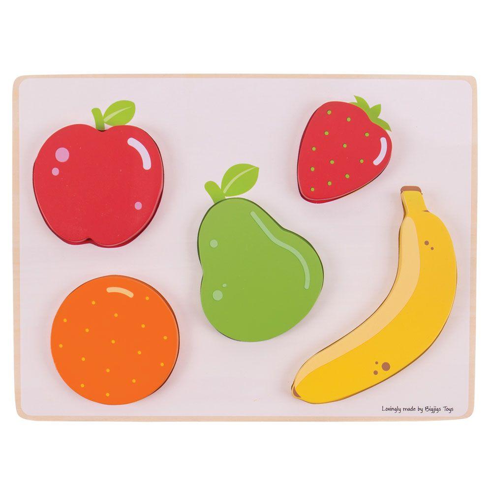 Puzzle de Encaixar Frutas - BigJigs