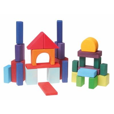 30 Geo-Blocos de construção, coloridos - Grimm's
