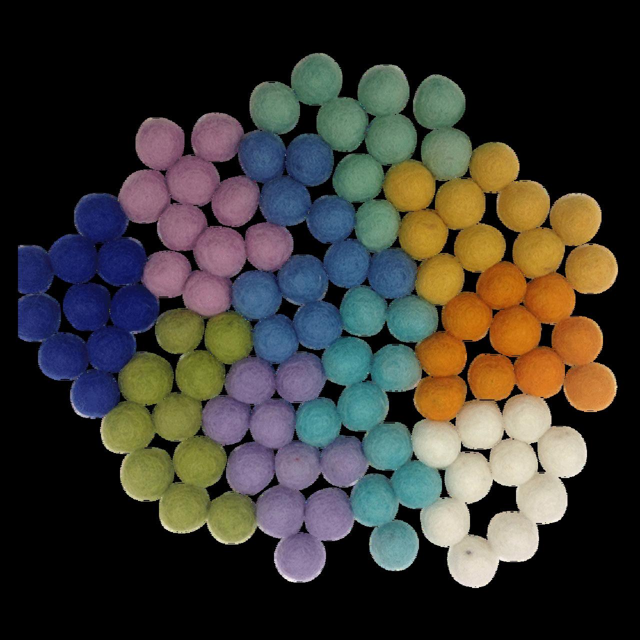 Primavera Conjunto Sensorial Pompons de Lã | Bosque Feliz