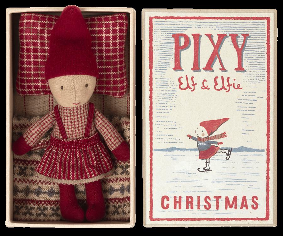 Pixy Elfie   Elfo de Natal em Caixa de Fósforo
