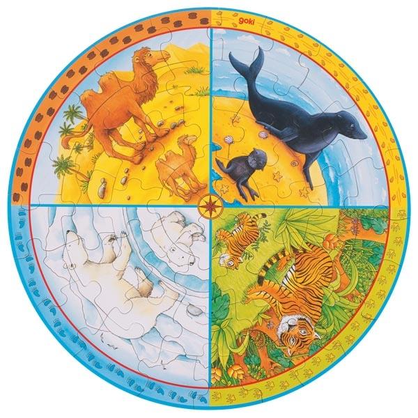 Habitat do Animais Puzzle de Peças XXL