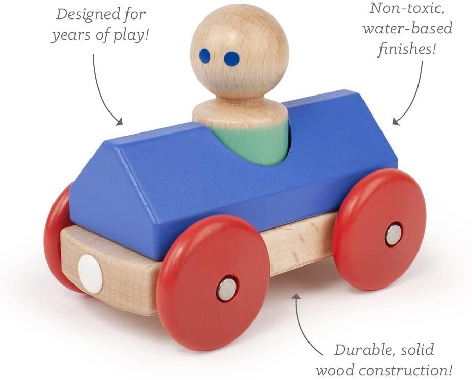 Carro de Corrida Magnético Azul - Tegu