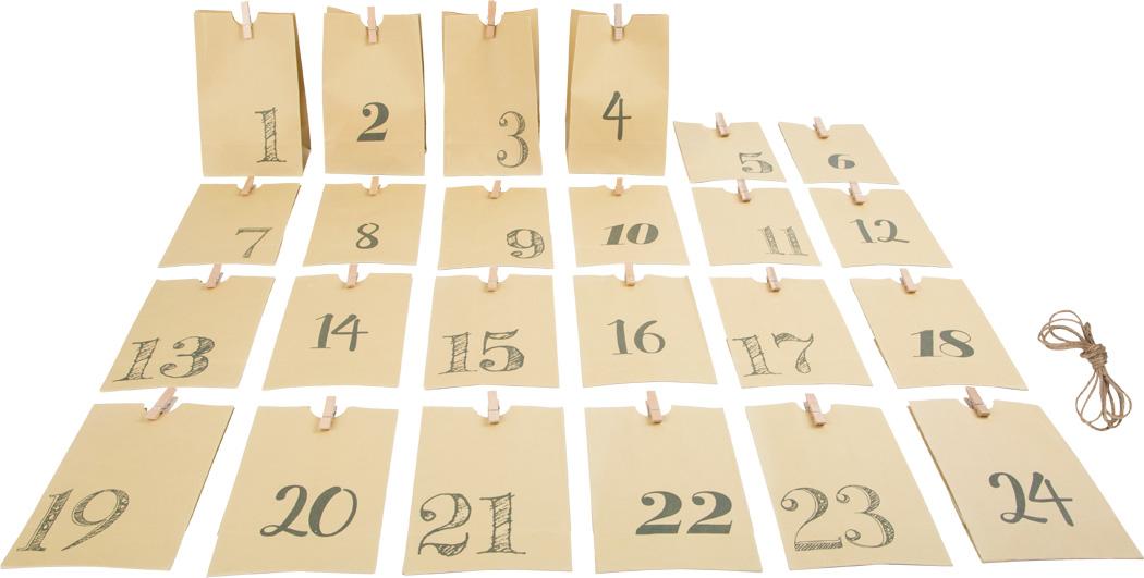 Calendário do Advento Saco de Papel (Natural) | Smallfoot