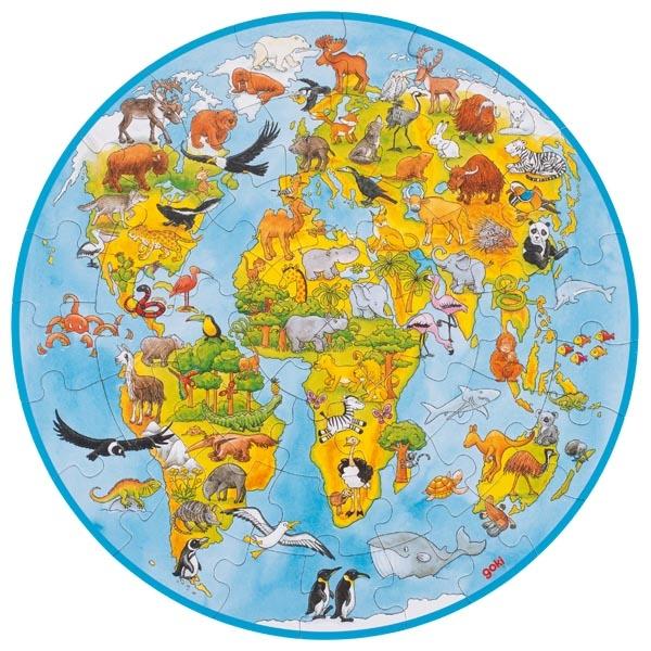 Puzzle de Peças XXL O Mundo - Goki