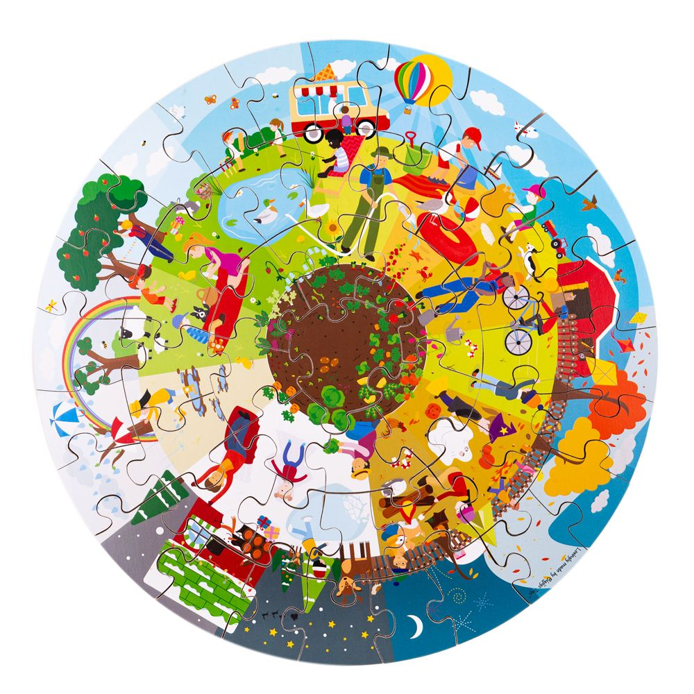 Puzzle de Chão Circular das Estações do Ano | BigJigs