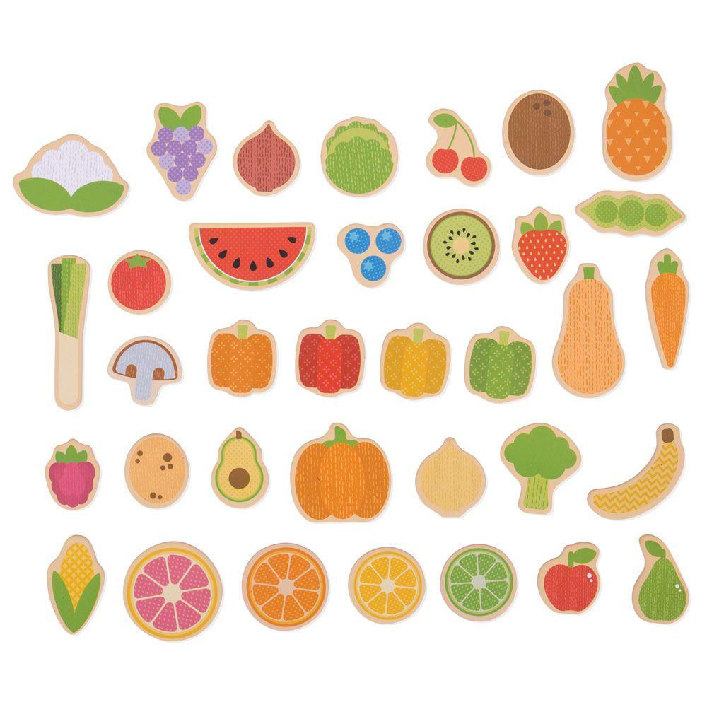 Ímans Frutas e Vegetais - BigJigs