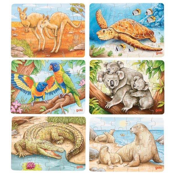 Animais Australianos Minipuzzle de Peças