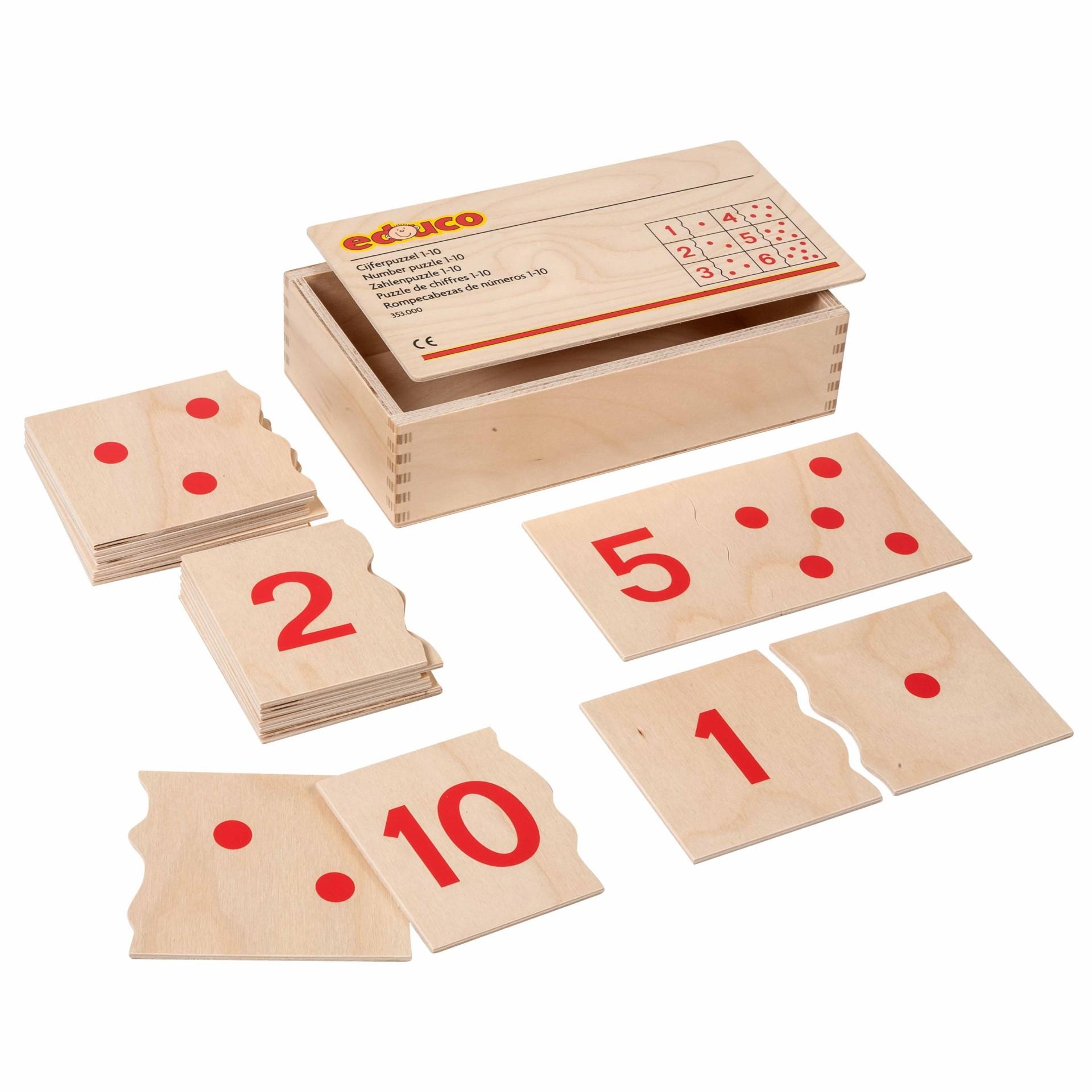 Números 1 a 10 Puzzle de Encaixar