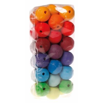 36 Contas Coloridas 30mm - Grimm's