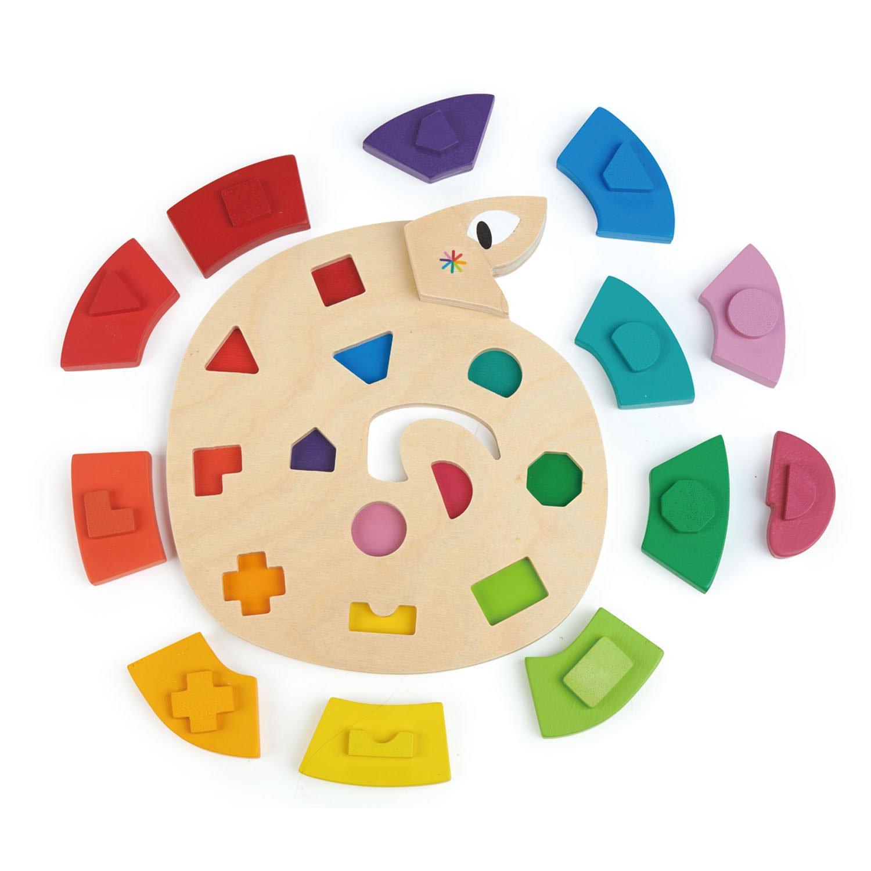 Puzzle Serpente Colorida