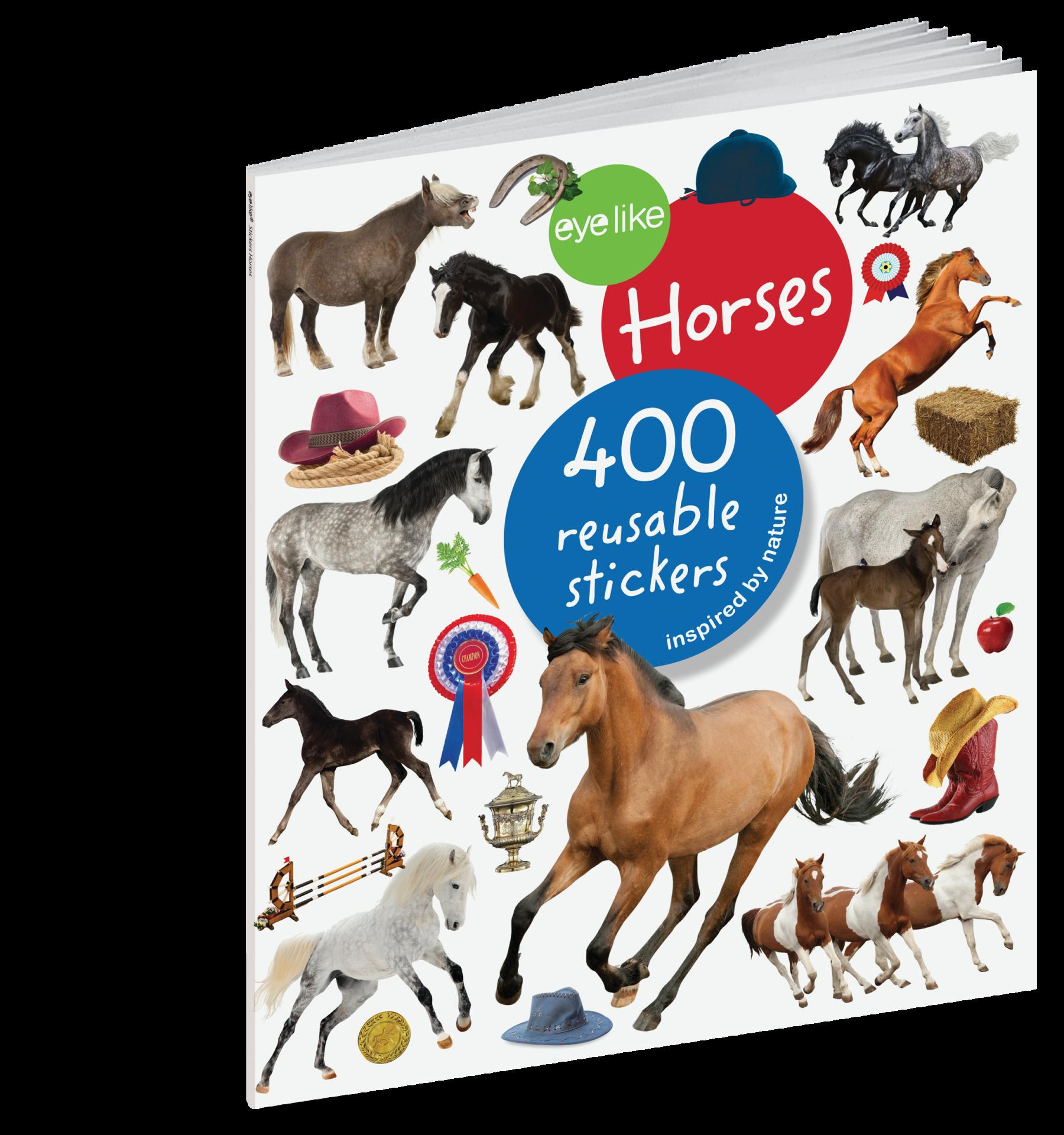 Cavalos - Livro de Autocolantes Reutilizáveis