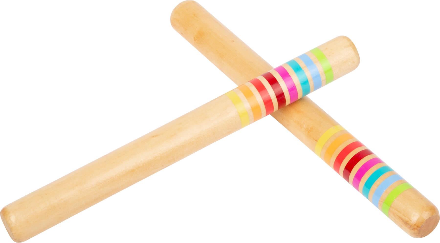 Paus de Percussão Colorido