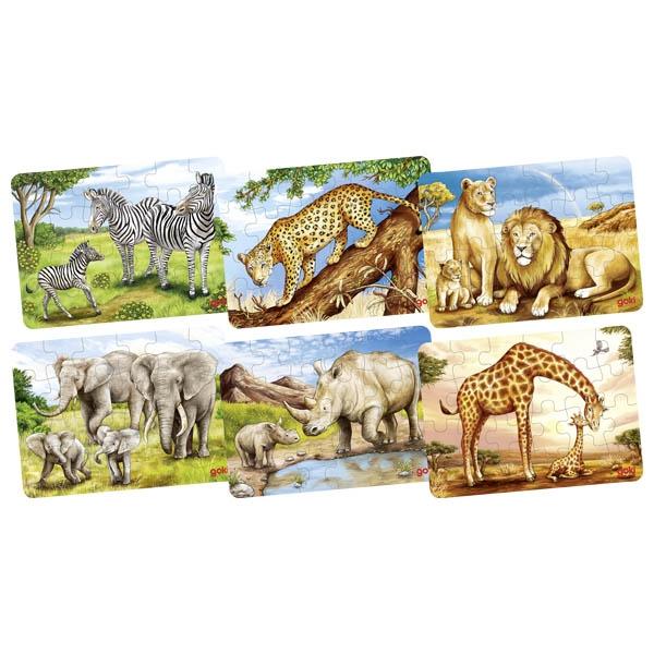 Animais Africanos Minipuzzle de Peças