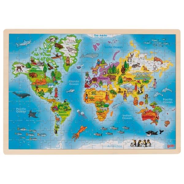 Mapa Mundo Puzzle GRANDE de 192 Peças