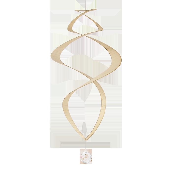 Mobile Grande Espiral Folheado Com Cristal Swarovski®