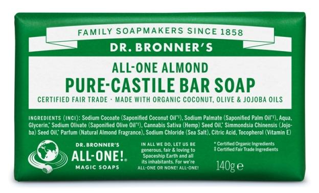 Amêndoa Sabonete em Barra biológico - Dr. Bronner's