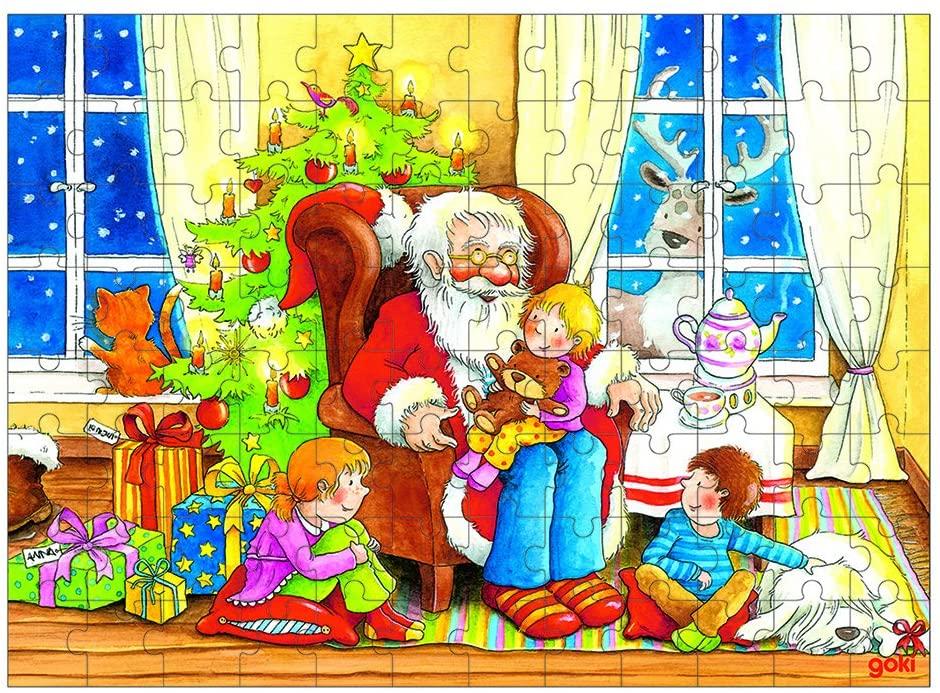 Puzzle - A Visita do Pai Natal | Goki